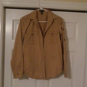 Camel colored, button down